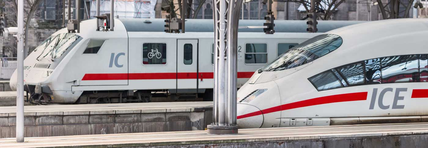 Duitse Hoge snelheid trein